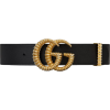 GUCCI Leather belt with torchon Double G - Cinturones -
