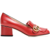 GUCCI Leather loafer pumps - Mokasyny -