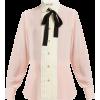 GUCCI  Pleated silk-crepe blouse - Camisa - longa -