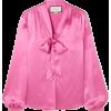 GUCCI Pussy-bow silk-satin blouse - Long sleeves shirts -