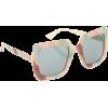 GUCCI Square-frame glitter sunglasses - Sunglasses -
