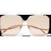 GUCCI Square-frame gold-tone sunglasses - Sunčane naočale -