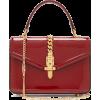 GUCCI  Sylvie small patent-leather shoul - 手提包 -