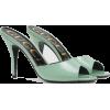 GUCCI black aqua green Leather heeled - Sandals -