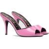 GUCCI  bubblegum pink Leather heeled sli - Sandali -