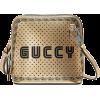 GUCCI gold-tone Guccy mini leather shoul - 手提包 -