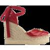 GUCCI red leather platform espadrille - Plattformen -