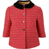 GUCCI red printed jacket black collar - Jakne i kaputi -