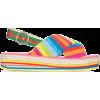 GUCCI striped 50 flatform slingback sand - Sandały -