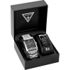 GUESS Stainless Steel/Black Leather Boxed Watc - Relógios - $110.00  ~ 94.48€