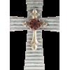 Galvanized Layered Metal Cross Wall Art - Illustrations - $19.99