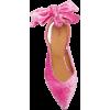 Ganni Bow-Detailed Velvet Slingback Pump - Classic shoes & Pumps -