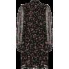 Ganni Floral Black Dress - Vestidos -