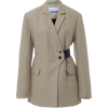 Ganni Linen Two Tone Blazer - Jacket - coats -