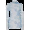 Ganni Printed Stretch-Jersey Turtleneck - Koszulki - długie -
