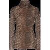 Ganni Printed Stretch-Jersey Turtleneck - Majice - duge -