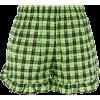 Ganni Seersucker Shorts - pantaloncini -