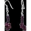 Garnet Earrings - Earrings -