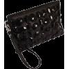 Gem Studded Wristlet Clutch Zip-Top Detachable Chain Strap - Clutch bags - $27.99