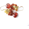 Genuine Red Zircon Gem Cluster Earrings - Brincos - $45.00  ~ 38.65€