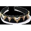 Geometric Art Deco Edgy Velvet Headband - 有边帽 - $92.50  ~ ¥619.78