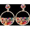 Geometric Round Natural Stone Handmade Rice Bead Earrings - Серьги -