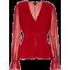 Giambattista Valli - V-neck silk top - Long sleeves shirts - $1,520.00