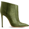 Gianvito Rossi Green Leather Ankle Boots - Čizme -