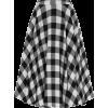 Gingham Swing Skirt - Skirts -