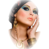 Girl Colorful Vintage People - Ludzie (osoby) -