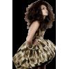 Girl Vintage Gold People - People -