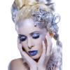 Girl Vintage Blue People - Ludzie (osoby) -