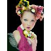 Girl Vintage Colorful People - People -