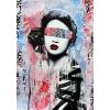 Girl art blindfold - Tła -
