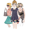 Girls (fashion sketch) - Illustrations -