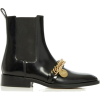 Givenchy Chain-Embellished Leather Chels - Boots -