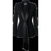 Givenchy draped neck-tie fitted blazer - Jacken und Mäntel -