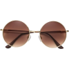 Gold-colored. Round sunglasses - 墨镜 -