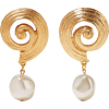 Gold-plated faux pearl clip earrings - Naušnice -