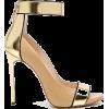 Gold Ankle Strap Shoes - Classic shoes & Pumps -