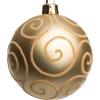 Gold Christmas bauble - Items -