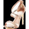 Gold Heels - Sandals -