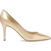 Gold Metallic Leather Pump - 经典鞋 - $747.00  ~ ¥5,005.15