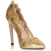 Gold Pointed Sides Heel - Sapatos clássicos -