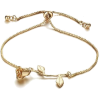 Gold Rose Adjustable Charm Bracelet For - Bransoletka -
