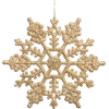 Gold Snowflake Ornament - Objectos -