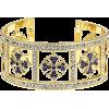 Gold Tone Round Multi-color Crystal Cuff - Pulseras - $23.99  ~ 20.60€