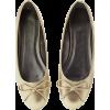 Gold ballerina shoes flat pewter - Flats -