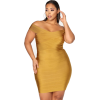 Gold cocktail dress - Dresses -
