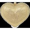Gold diamond heart clutch - Clutch bags -
